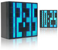 Электронные часы LED Pixel Alarm Clocks Square Blue
